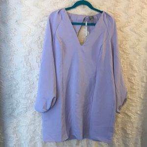 ASOS size 14 midi longsleeve dress lilac NWT